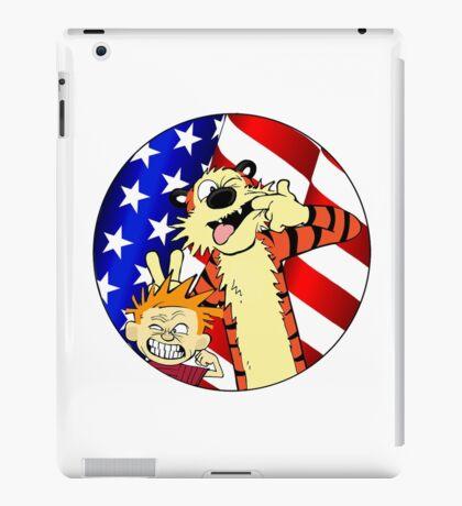 Calvin and hobbes america iPad Case/Skin