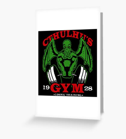 Cthulhus Gym Greeting Card