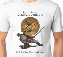 WWI Gold for French Victory Unisex T-Shirt