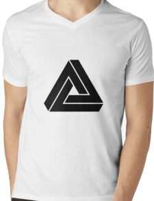 Penrose triangle Mens V-Neck T-Shirt