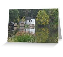 Boat Houses in Fall Greeting Card