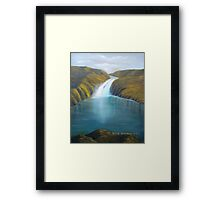 Mountain Waterfalls Framed Print