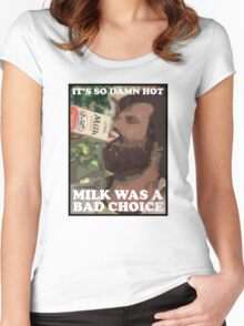 Ron Burgundy - Milk was a bad choice! Women's Fitted Scoop T-Shirt