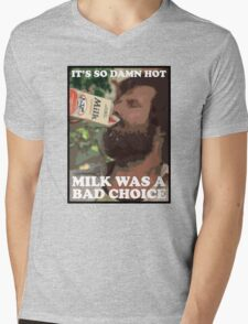 Ron Burgundy - Milk was a bad choice! Mens V-Neck T-Shirt