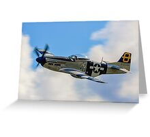 P-51D Mustang 44-72035 G-SIJJ Jumpin'-Jacques Greeting Card