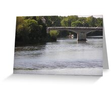 River at Chinon, Loire Valley, France Greeting Card