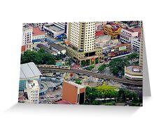 Above the City VI - Kuala Lumpur, Malaysia. Greeting Card