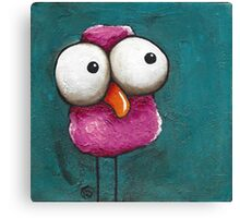 The pink bird Canvas Print