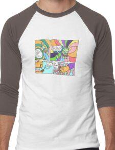 Psychedelic Finger Comic Men's Baseball ¾ T-Shirt