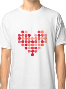 Heart made of dots Classic T-Shirt