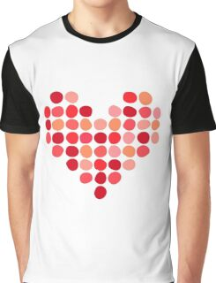 Heart made of dots Graphic T-Shirt