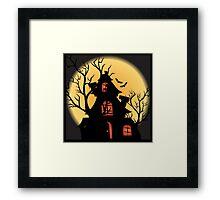Halloween Haunted House Framed Print