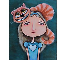 Alice and the Cheshire Cat Photographic Print