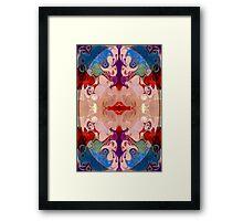 Light And Dark Energies Abstract Symbol Art Framed Print