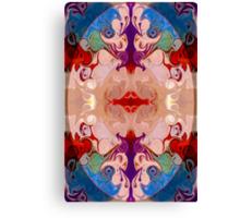 Light And Dark Energies Abstract Symbol Art Canvas Print
