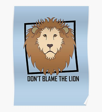 DON'T BLAME THE LION Poster