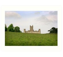 Green rolling hills towards Downton abbey Art Print
