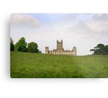 Green rolling hills towards Downton abbey Metal Print