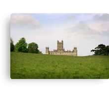 Green rolling hills towards Downton abbey Canvas Print