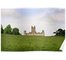 Green rolling hills towards Downton abbey Poster