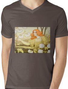 Redheaded girl Mens V-Neck T-Shirt