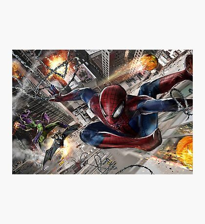 Spider-Man vs. Green Goblin Photographic Print