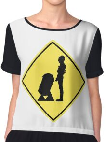 Droid Crossing Chiffon Top