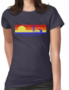 Cape May New Jersey Sunset Beach Vacation Souvenir Womens Fitted T-Shirt
