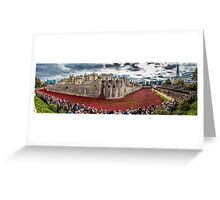 Poppies round the Tower Greeting Card