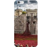 Poppies round the Tower iPhone Case/Skin