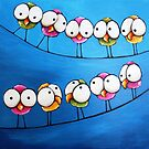Whimsical Birds by StressieCat