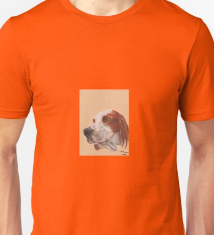 A red and white Irish Setter Unisex T-Shirt