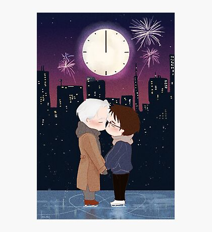 Happy New Year Victuuri Photographic Print