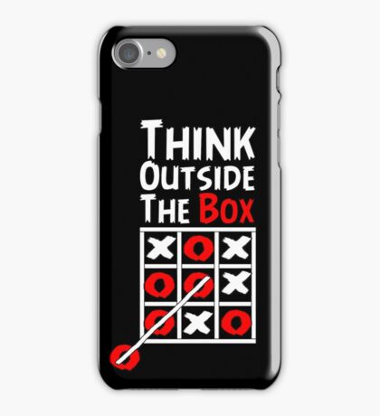 Think Outside the Box - X O games Fun by Aariv iPhone Case/Skin