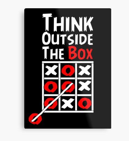 Think Outside the Box - X O games Fun by Aariv Metal Print