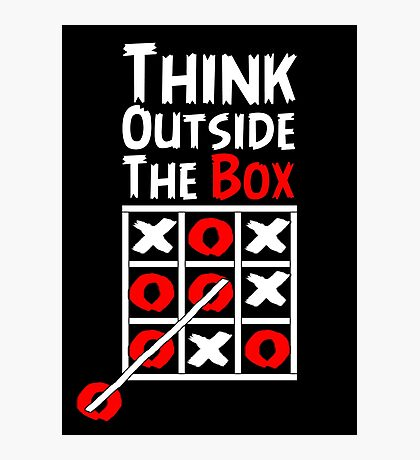 Think Outside the Box - X O games Fun by Aariv Photographic Print