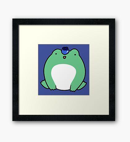 Blueberry Frog Framed Print