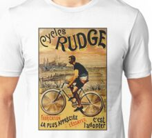 CYCLES RUDGE; Vintage Bicycle Print Unisex T-Shirt