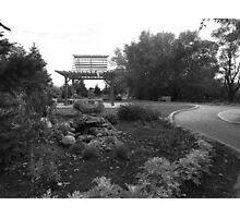 Gray Scale Park  Photographic Print