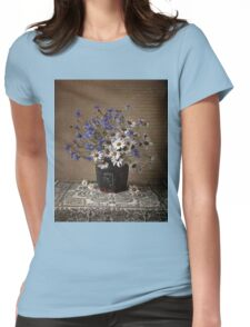 Blue and white bouquet Womens Fitted T-Shirt