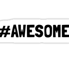 Hashtag Awesome Sticker