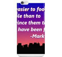 Mark Twain Quote iPhone Case/Skin