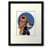Han and Chewie Mini Framed Print