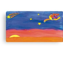 Dreamweaver flying in the night sky Canvas Print