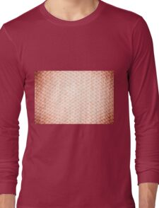 Sepia fluffy knitted fabric texture Long Sleeve T-Shirt