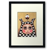 The Harlequin girl & crow Framed Print