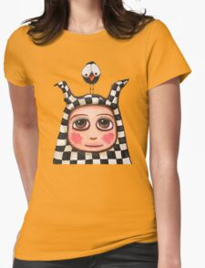 The Harlequin girl & crow Womens Fitted T-Shirt