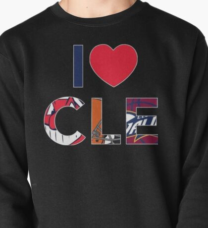 I Love CLE w Sports Logos Pullover
