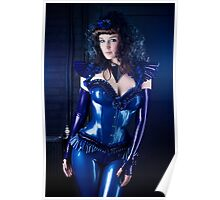 Blue latex corset 01 Poster