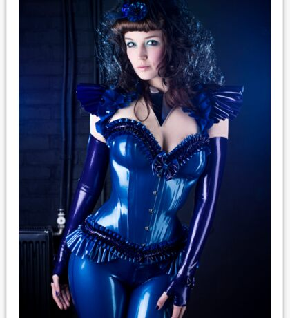 Blue latex corset 01 Sticker